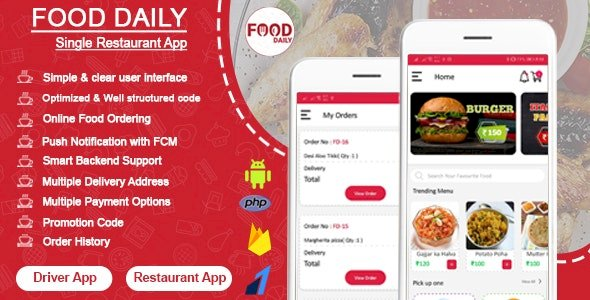 Food Daily Android Food Delivery App