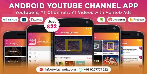 Android YouTube Channel App Youtubers YT Channels YT Videos