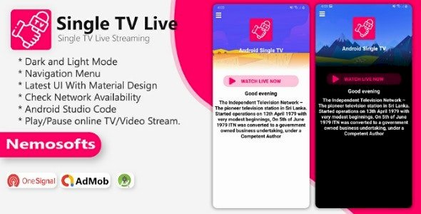 Android TV Channel Single TV Live Streaming App