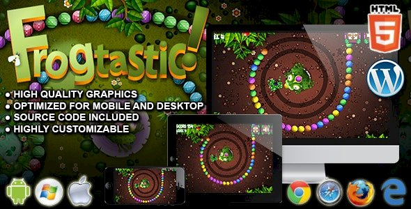 Frogtastic HTML5 Puzzle Game